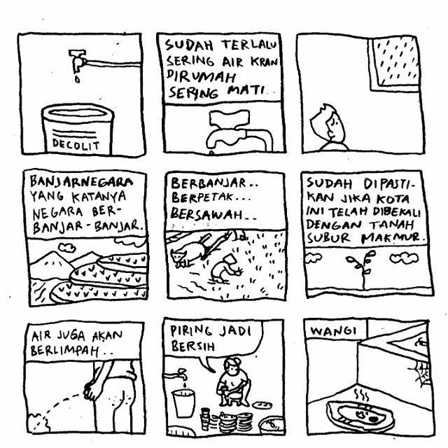 "Komik Strip ""Air PDAM mati"" (komikselonjor.com)"